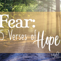 Fear: 15 Verses of Hope