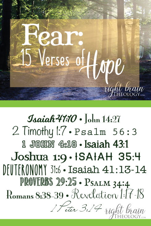 Fear: 15 Verses of Hope